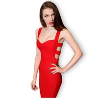 Wholesale girls hot nights dress - Wholesale- Hot Sales 2016 Summer New Sexy Women Bodycon Bandage Dress Girl Clothes Vestidos Vintage Party Evening Club