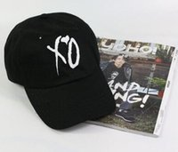 Wholesale Skateboard Caps - Fashion adjustable XO hat the Weeknd Snapback hats for men women brand hip hop golf dad caps sun street skateboard casquette cap bone