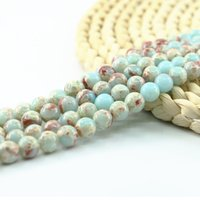 Wholesale Silver Green Gemstone - Natural Higher Quality Agalmatolite Round Jewerlry Making Gemstone Beads 4 6 8 10mm 15 inch Strand Per Set L0577#