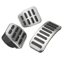 Wholesale Vw Pedals - Wholesale-Stainless Steel MT Pedal Pads For VW Polo Jetta MK4 Bora Golf MK4 3pcs set