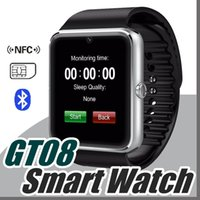Wholesale Black Health Bracelet - 20X Bluetooth Smart Watch GT08 A1 with SIM Card Slot Health Watchs For iPhone 6S Samsung S7 Android IOS Smartphone Bracelet Smartwatch C-BS
