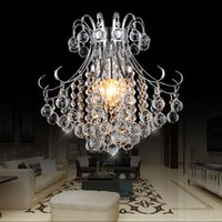 Wholesale pendant light iron - New Arrival Luxury Crystal Chandelier Lamp lustres de cristal indoor Lights Crystal Pendants For Living Room Free shipping