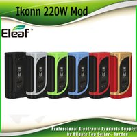 Wholesale Interface Boxes - Original Eleaf iKonn 220 TC Mod 220W Box Mods Preheat Function Switchable Interfaces System With 0.91-Inch Screen 100% Authentic 2205112