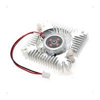 ventilador de 55mm al por mayor-Al por mayor-PC VGA Video Card 2 Pin 55mm Cooler Ventilador de enfriamiento Disipador de calor 4800 RPM