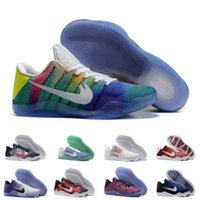 Wholesale Sale Woven Table - (With Box) Cheap Sale kobe 11 Elite Men's Basketball Shoes for High quality Black White XI KB Weaving Sports Training Sneakers man US 7-12