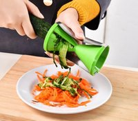 spiral cutters - Kitchen Cooking Tools Spiral Slicer Spirelli Grater Vegetable Julienne Easy Spiral Fruit Slicer Twister Cuisine Cutter
