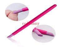 limas de piedra al por mayor-200pcs / lot Mujeres Lima de uñas 2017 Hot Pink Nail Art Cuticle Eliminar Ceramic Rod Scrubs Cuticle Stick Stone Tools