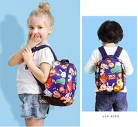 Wholesale Bag Zoo Children - Zoo story Children's School Bag Lovely Cartoon Backpack Children Backpack Kindergarten Girls Boys School bag KKA2048