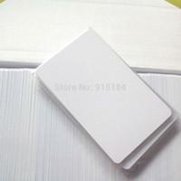 Wholesale 125 Khz Id - Wholesale- 100pcs Lot RFID 125 khz post card em4100 TK4100 access control nfc tag Proximity ID PVC cards credit card size