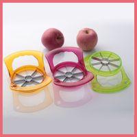 Wholesale Apple Corer Peeler - Free Shipping High Quality Fruit Apple Pear Corer Slicer Peeler Cutter Parer Knife Kitchen Tool Stainless Steel Fruit Slicer 111801