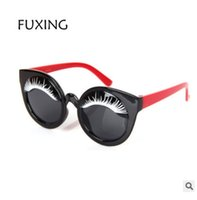 Wholesale Eyelid Glasses - rubber frame New Children Big eyelid Sunglasses Kids Designer Sport Shades For Girls Boys Goggle Baby Glasses Oculos eyewear