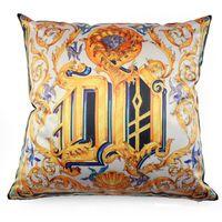 Wholesale Baroque Sofa - 45*45CM Pillow Gold Baroque Flower Pattern Linen Throw Pillow Home Sofa Car Decor Cushion Decorative Pillow Throws