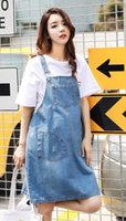 Wholesale Maternity Overalls Summer - Women's Denim Casual Overalls Maternity Suspender Dress Size L XL XXL DXY8870