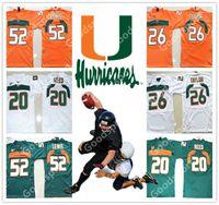 reed kid achat en gros de-Jeunes Miami Hurricanes NCAA KID 20 Ed Reed 26 Sean Taylor 52 Ray Lewis Jersey KID Maillots de Football LIVRAISON GRATUITE Maillots pas chers