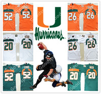 Jeunesse Miami Hurricanes NCAA KID 20 Ed Reed 26 Sean Taylor 52 Ray Lewis Jersey KID Maillots de football LIVRAISON GRATUITE Maillots pas chers