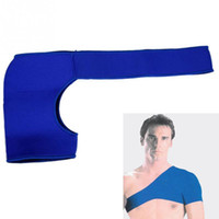 Wholesale Infrared Heat Therapy Pad - Wholesale- Soft Self Heating Magnetic Therapy Single Shoulder Protector Far Infrared Shoulder Brace Pad Support Sports Aid Pain Relief Wrap