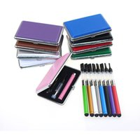 Wholesale Thick Electronic Cigarette - Bud Touch CE3 vape pen Rectangle Box kit 280mah colorful bud touch battery thick oil atomizer pen cartridge electronic cigarette kit