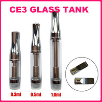 Wholesale Dual Coil Tank Pyrex - Glass tank Cartridge CE3 Pyrex Bud Atomizer CBD Oil Vaporizer V2 Stainless steel 510 thread Dual Coil Tank for O Pen Touch battery.