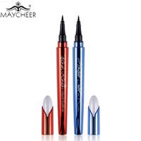 Wholesale Eye Liner Vitamin E - Wholesale- MAYCHEER Brand Makeup Silk Black Liquid Eyeliner Pencil Waterproof Longlasting Quick Dry Vitamin E Eye Liner Pen Make Up