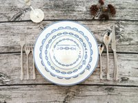 Wholesale China House - Fashionable and simple 10 pcs Western style Dinnerware Bone china dinnerware set Ceramic cup saucer plate with spoon fork and knife House