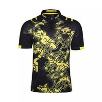 Wholesale Man Heats - Free shipping! Rugby League New Zealand Super Rugby Union Hurricanes High-temperature heat transfer printing jersey Rugby Shirts