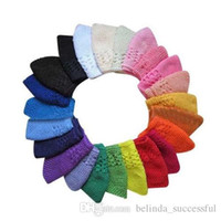 Wholesale Knited Kufi Wholesale - wholesale 50pcs size: M children cotton kufi caps Classic Knit Handmade hats baby crochet beanie girl knited Skull
