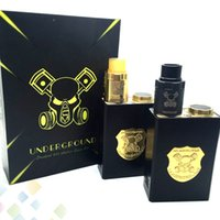 Melhor Underground Box Mod Kit Mech Mod com Underground RDA Gold Black Colours Fit 18650 Bateria 510 Thread E Cigarette DHL Free