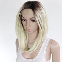 kanekalon perruque bob achat en gros de-kanekalon synthétique avant de lacet perruque ombre bob perruque cheveux artificiels