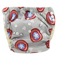 Wholesale Bamboo Diaper Covers - 20pcs lot Ohbabyka Baby Cloth Nappies Reusable Baby Diapers Couche Lavable Sewn Washable Bamboo Fiber Baby Trainning Diapers
