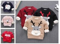 Wholesale Korean Sweater Fashion Boys - SPRING winter wholesale children Sweater round neck Korean long sleeve mixed color suit for 3-8T girl and boy clothes free ship
