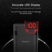 Obile Accessori per telefoni Parti Batteria esterna PISEN Power Bank Display LED 10000mAh 18650 Batteria esterna portatile USB universale M ...