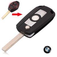 Wholesale Bmw Z3 Keyless Remote - car Folding Flip Key Case Refit BMW 3 5 7 SERIES Z3 Z4 E38 E39 E46 Remote Case Fob free shipping