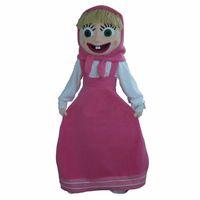 pembe ayı maskot kostüm toptan satış-pembe kız Maskot Kostüm Gelen ve Ayı Parti Elbise Yetişkin Ücretsiz Kargo