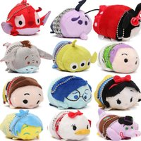 Wholesale Cheap Wholesalers Japan - Cheap 60pcs 9cm The Little Mermaid Ursula Tsum Tsum Plush Toys Japan Keychain Mini Princess Set for Children's Gifts
