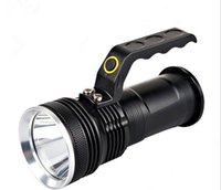Wholesale Charging Lights Long Range - The new LED lantern light charging flashlight Aluminum Alloy waterproof outdoor lamp 200 range long-range searchlight LED flashlight