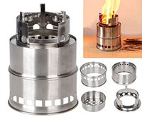 Wholesale Portable Cooking Gas - Portable Stainless Steel Lightweight Stove Wood Solidified Alcohol Stove Outdoor Cooking Picnic BBQ Camping Lightweight A098
