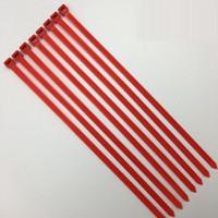 kendinden kilitli kravatlar toptan satış-100 adet Kırmızı Renk Naylon PA66 Kendinden Kilitleme Kablo Bağları Yangın Derecesi 94V-2 Anti-korozyon Asit Yalıtım Güçlü Dayanıklılık aşılama