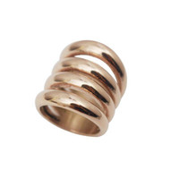 Wholesale Womens Biker Rings - Rose Gold color Stainless Steel Ring Wide Party Rings Silver Band Biker Wedding Rings Womens Gold Rings Wholesale Jewelry