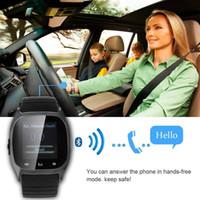akıllı saat eller serbest toptan satış-2017 Yüksek kalite düşük maliyetli, moda Bluetooth saatler, araba Bluetooth hands-free akıllı Bluetooth saatler, akıllı saatler M26