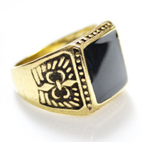 Wholesale Cheap Fashion Jewelry Rings - 2016 New Arrival Mens Ring,Fashion Gold Plated Violent Ring for Men Ring Men Cheap Jewelry Free Shipping