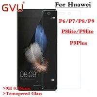 Wholesale Huawei Ascend P6 Screen - Wholesale-0.26mm 9h 2.5D Premium Tempered Glass for Huawei Ascend P6 P7 P8 P9 Screen Protector protective film P8 P9 lite