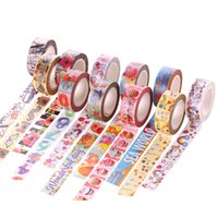 Wholesale Anime Material - Wholesale- 2016 15 Mm*10m Loverly Anime Circus Diy Washi Tapes Masking Tape Cartoon Tapes School Supplies Material Escolar
