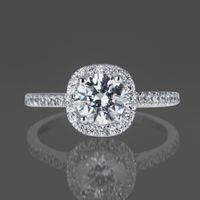 Wholesale Si Diamond Ring - 1 CT Diamond Engagement Ring Round Cut D SI 14K White Gold Enhanced