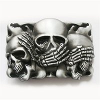 Wholesale Tattoo Belt Buckles - Men Belt Buckle New Vintage Original Black Enamel Flame Shy Skulls Tattoo Belt Buckle Gurtelschnalle Boucle de ceinture BUCKLE-CS041BK