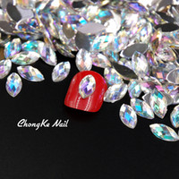 Wholesale 3d horse art for sale - Group buy Top Quality Nail Crystal Clear AB Horse Eye Design Acrylic Glitter Rhinestone Manicure Tips For Charms D Nail Art Decorations