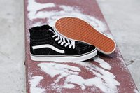 Wholesale Warm Waterproof Winter Sneakers - Mens Women Classic SK8-HI Old Skool High Top Winter Warm Skate Boot Sneakers Black White Red Blue 36-44