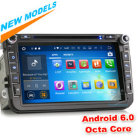 "Wholesale Gps For Vw Tiguan - 8"" Octa-Core Android 6.0 Car Radio DVD Stereo for VW Passat CC Golf Tiguan Touran Jetta Seat Altea GPS Navigation WIFI DTV-IN"
