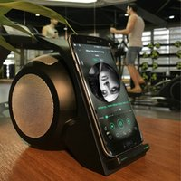 Wholesale Dock Radio - Quick charge wireless charger, Bluetooth speaker support, double ring private model wireless charger