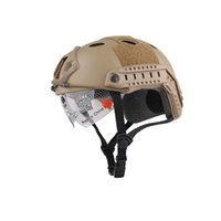 Wholesale Tactical Base Jump Fast Helmet - New Airsoft FAST Base Jump Helmet Goggles Edition Military Tactical Airsoft Paintball SWAT Protective Fast Helmet Party Masks