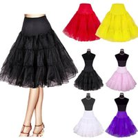 "Wholesale Cheap Blue Red Tutu - Women's 50s Vintage Rockabilly Petticoat 25"" Length Colorful Underskirt Tutu Skirt Petticoat Crinoline For Wedding Party Prom Dress Cheap"